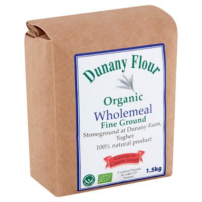 Dunany Organic Wholemeal Flour Fine 1.5Kg
