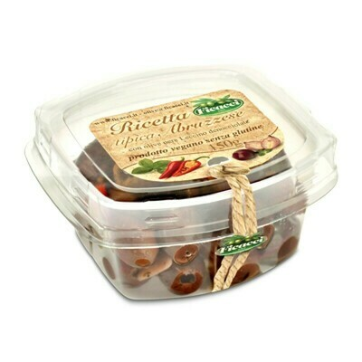 Ficacci Abruzzese Recipe With Black Pitted Leccino Olives 150g