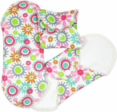 ImseVimse Reusable Panty Liners Flowers 3pk