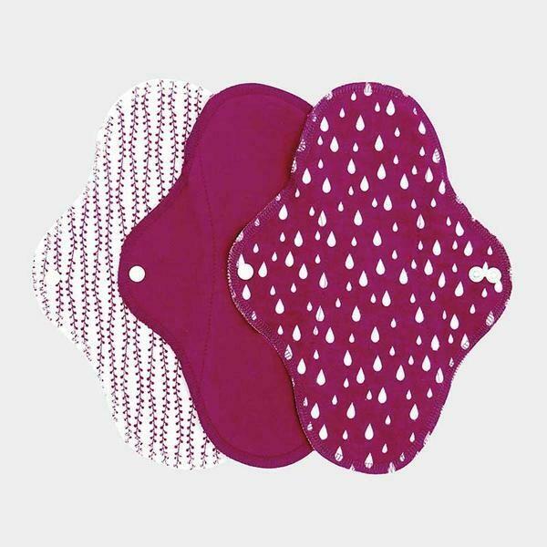 ImseVimse Reusable Regular Menstrual Pads Sangria 3pk