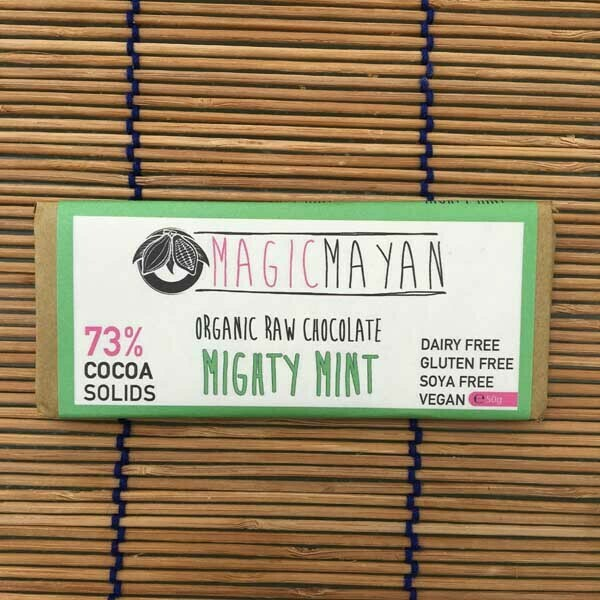 Magic Mayan Raw Organic Vegan Chocolate : Mighty Mint 50g