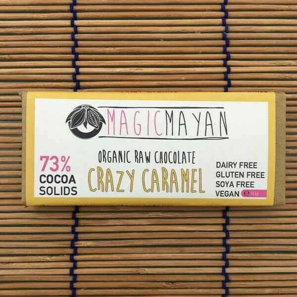 Magic Mayan Raw Organic Vegan Chocolate: Crazy Caramel 50g