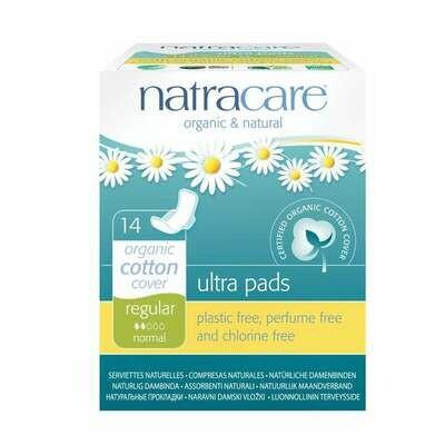 Natracare Organic Cotton Ultra Pads Regular 14