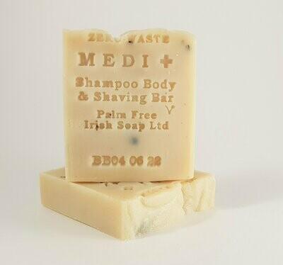 Palm Free Irish Medi+ Shampoo Body & Shaving Bar