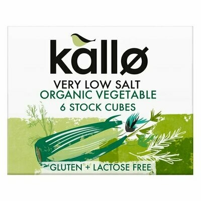 Kallo Organic Very Low Salt Stock Cubes 60g