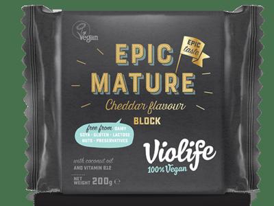 Violife Vegan Epic Mature Cheddar Block 200g