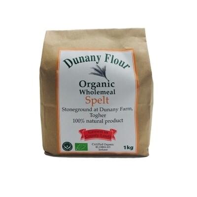 Dunany Organic Wholemeal  Spelt Flour 1kg