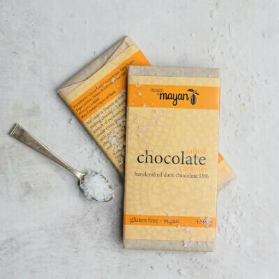 Magic Mayan Raw Organic Vegan Chocolate : Salted Caramel 55% 90g