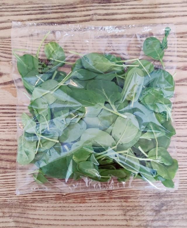 Organic Bagged Spinach Each