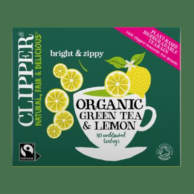 Clipper Organic Green Tea & Lemon 20 Unbleached Bags 40g