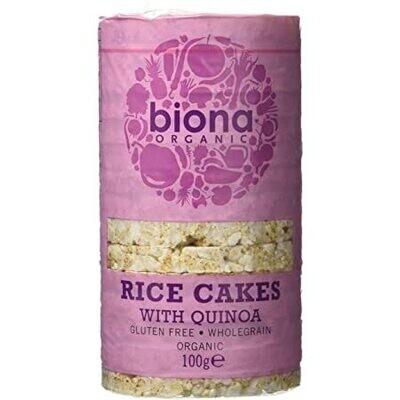 Biona Organic Rice Cakes With Quinoa 100g