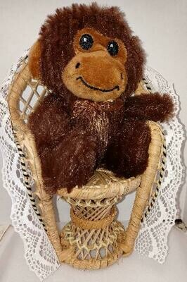 Monkey sitting in a chair
