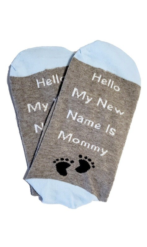 Hello My New Name is Mommy Sock Pregnancy Gift   Delivery Gift