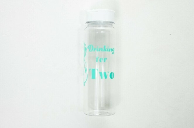 Drinking for Two Water Bottle in Clear