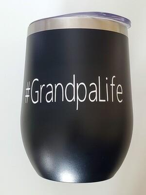 #GrandpaLife Travel Coffee/Wine Tumbler   Pregnancy Announcement