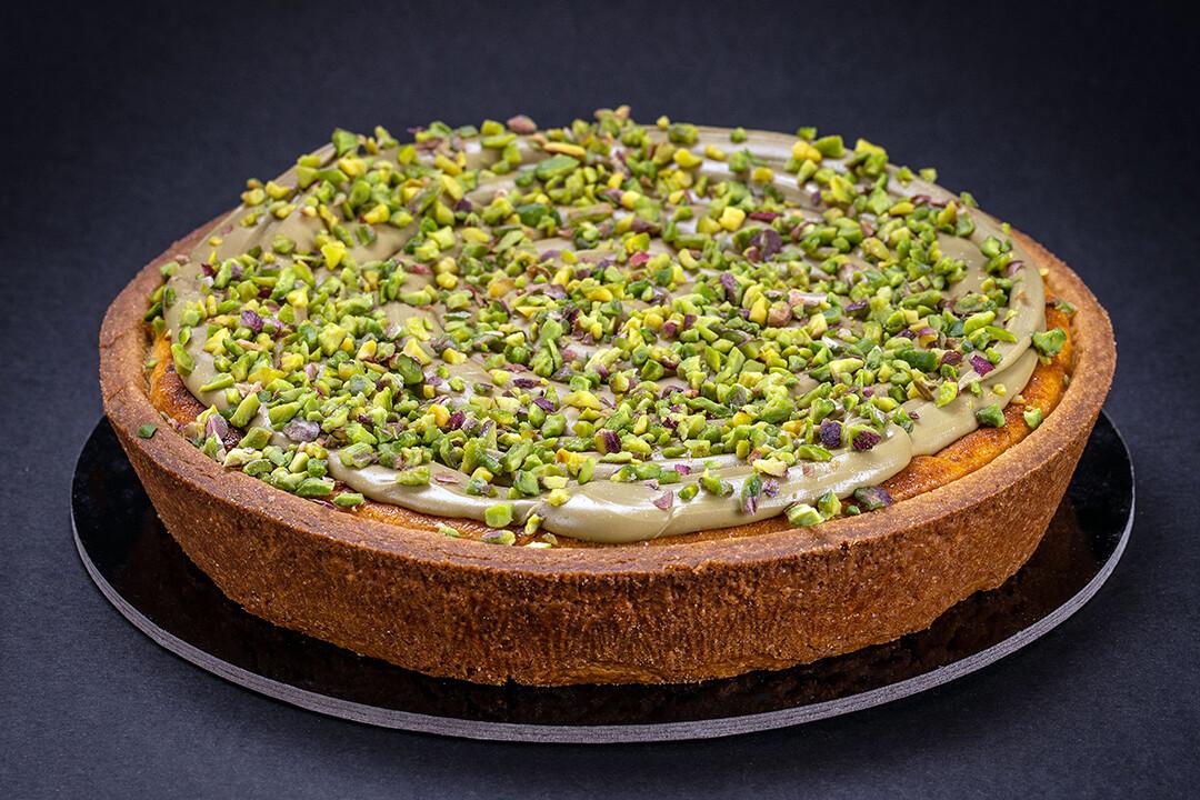Cheesecake al pistacchio e la sua granella