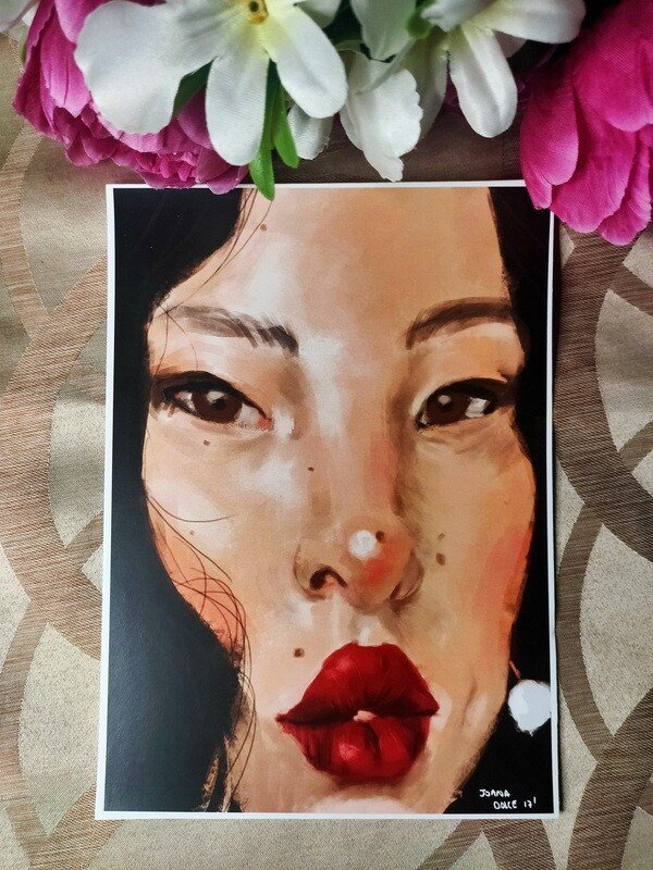 Red Lips A5 Print