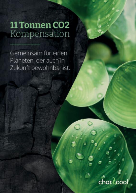 11 to CO2-Kompensations-Zertifikat - Deine Jahreskompensation aus Wasserhyazinthenkohle