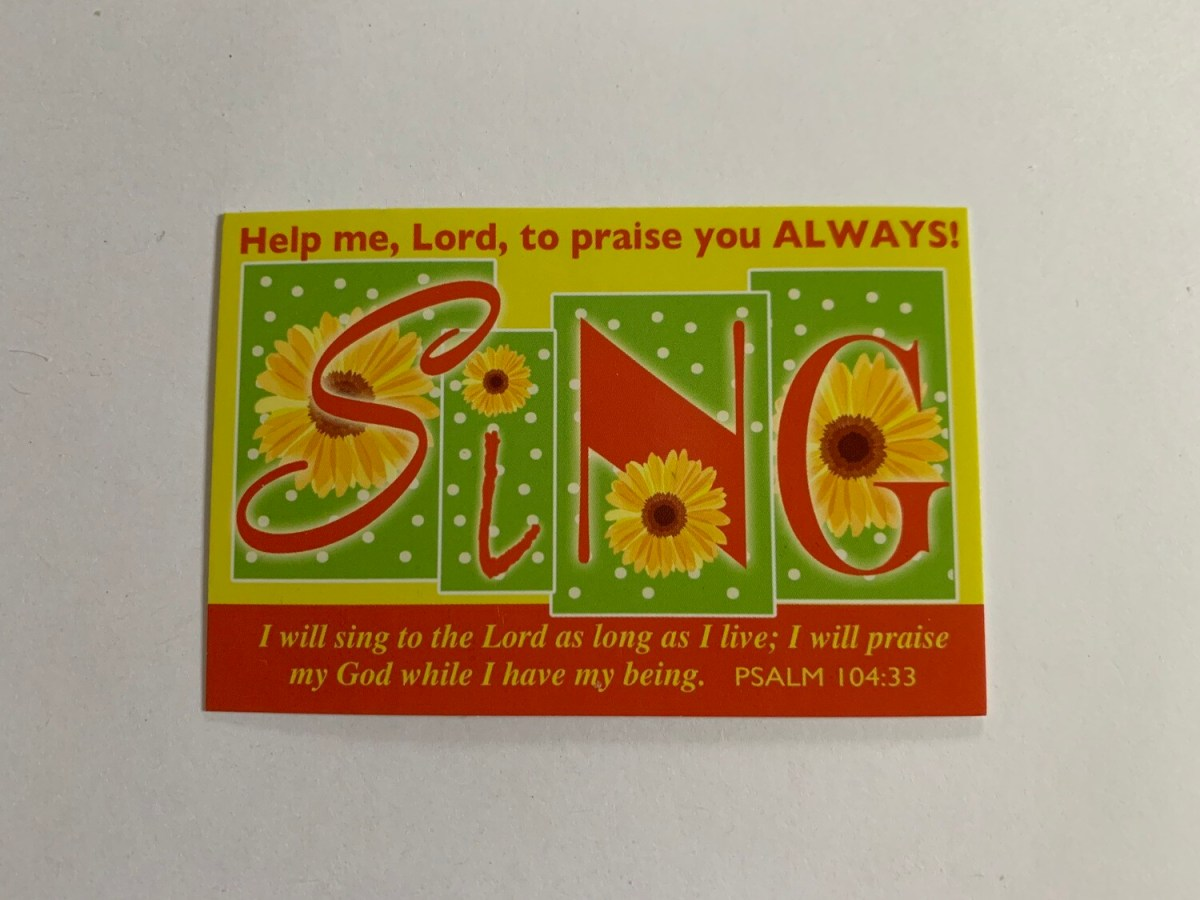 Pass It On - Help Me Lord Psalm 104:33