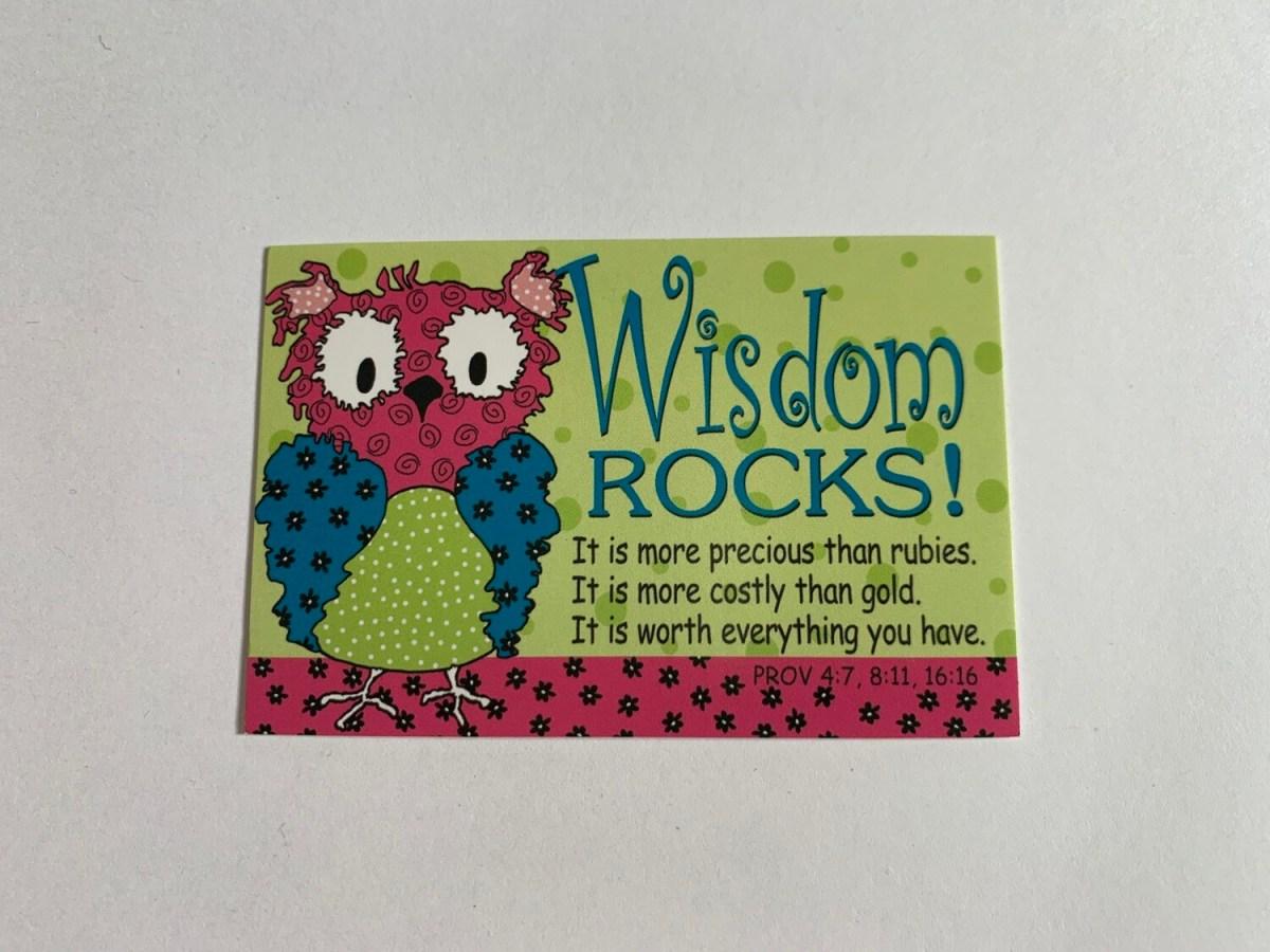 Pass It On - Wisdom Rocks!