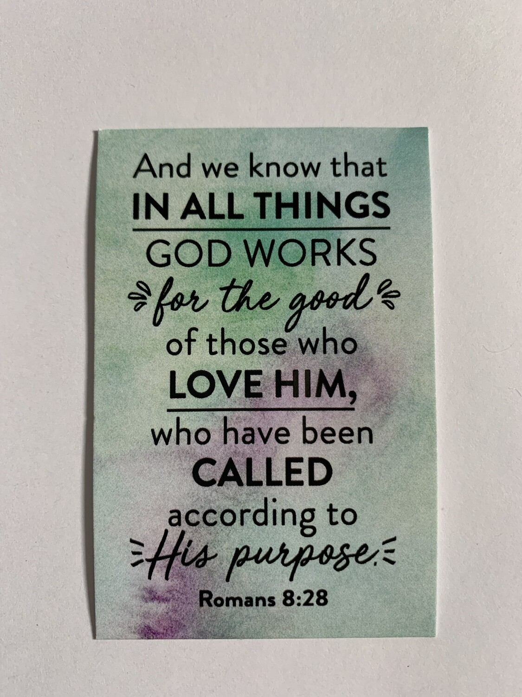 Pass It On - Romans 8:28 (green)