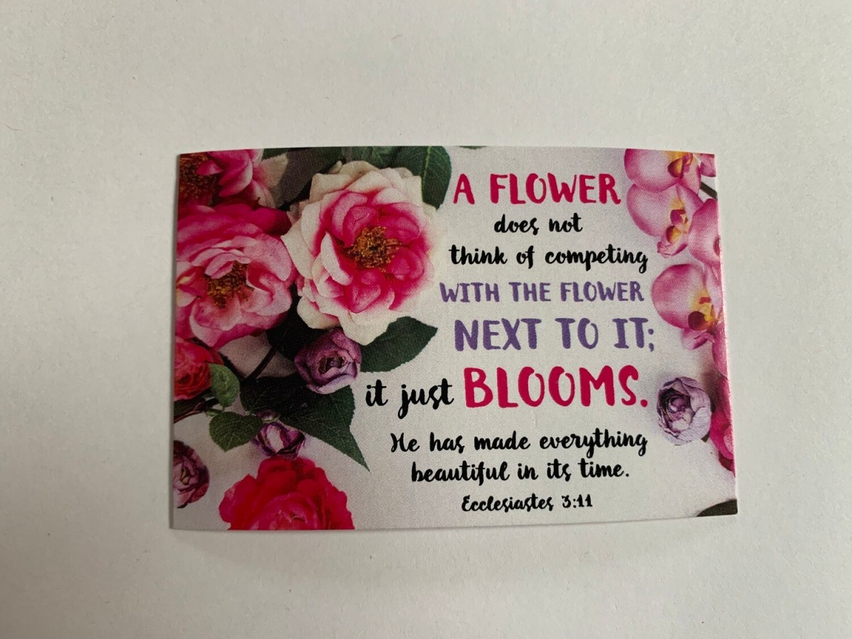 Pass It On - A Flower Ecc. 3:11
