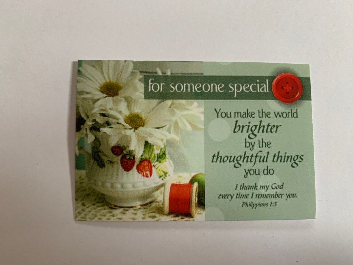 Pass It On - For Someone Special Phil. 1:3