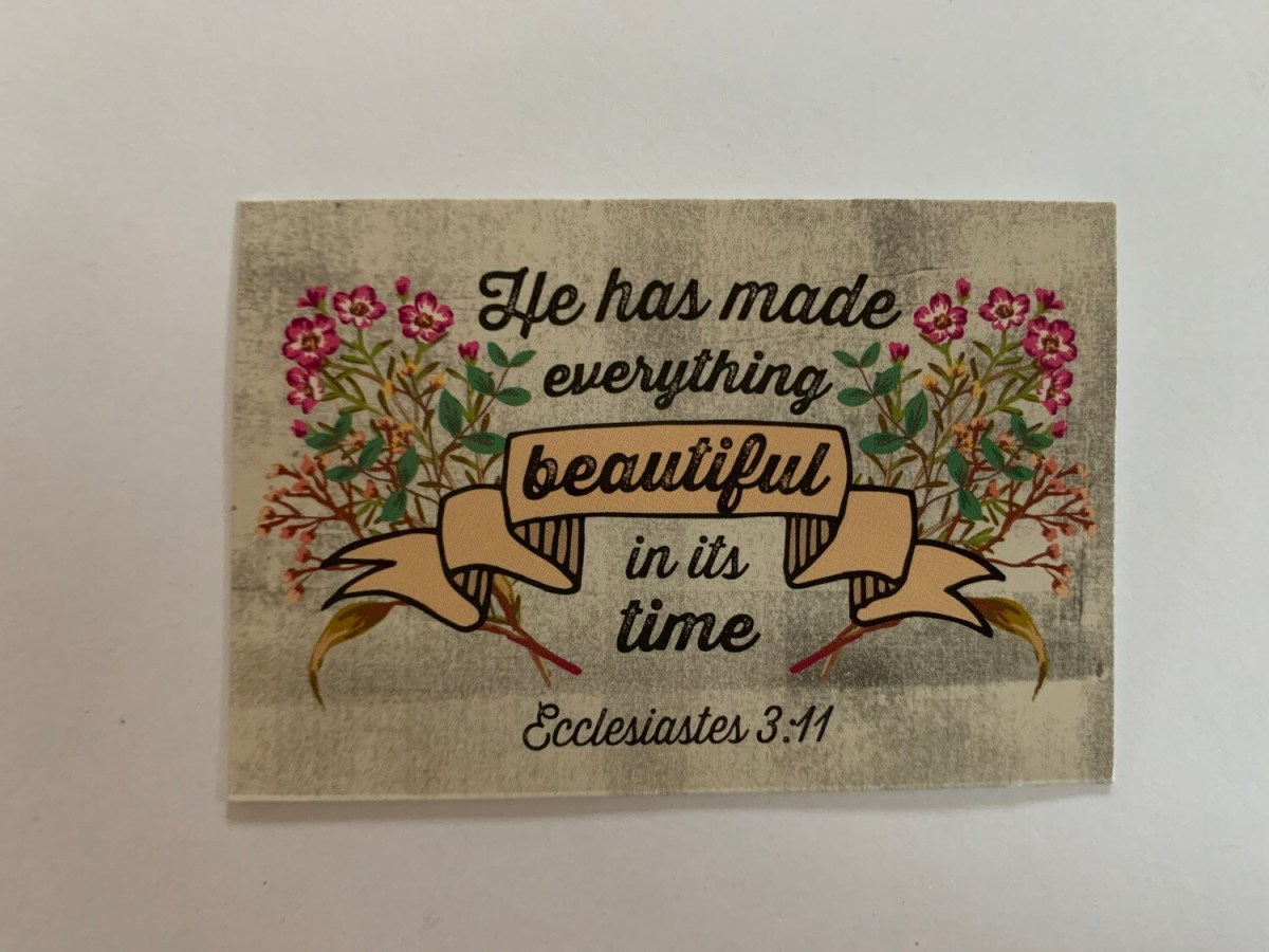 Pass It On - Ecclesiastes 3:11
