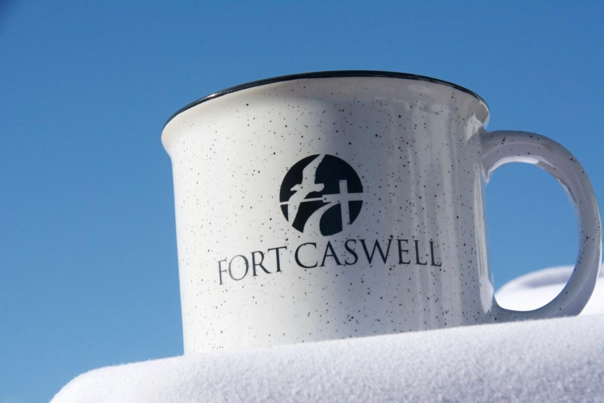 WHITE FORT CASWELL CAMPFIRE MUG