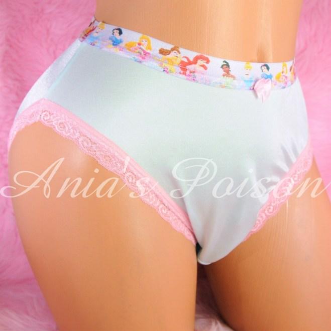 Amazing Truly Unisex Liquid Stretch Satin lace sides full cut bikini ladies mens panties