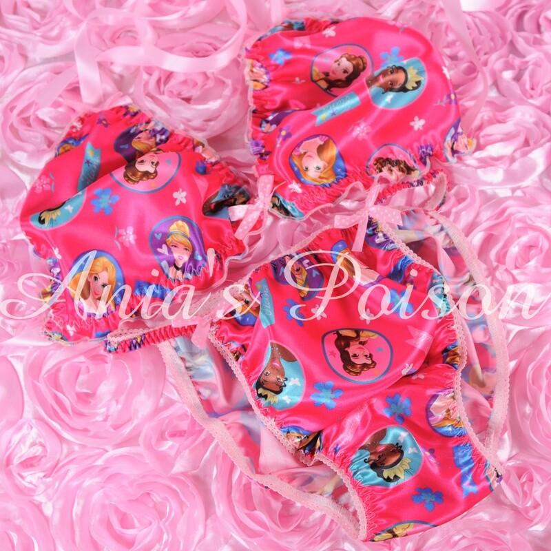 Ania's Poison MANties S - XXL Princess Prints Super Rare 100% polyester string bikini sissy mens underwear panties/ Bra / FULL Set