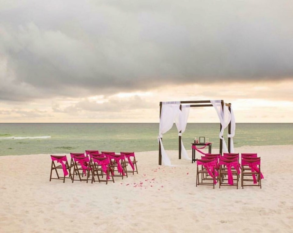 Dark Wood Chuppah- 4 Post (Specifically for Beach)