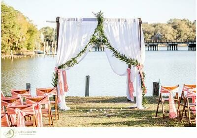 Dark Wood Chuppah- 4 Post- Freestanding (not for beach)
