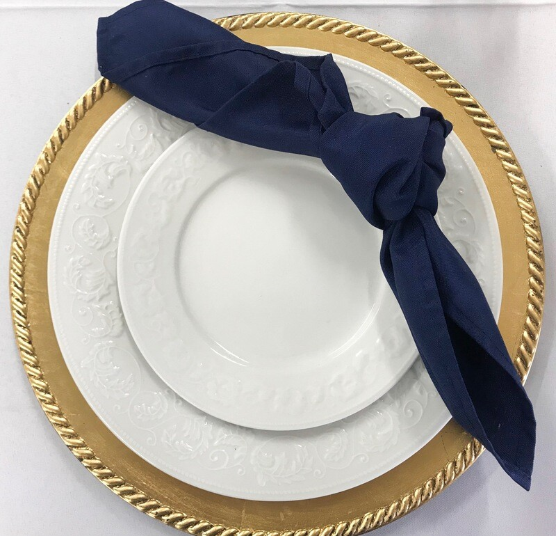 Gold- Rope- Charger Plates