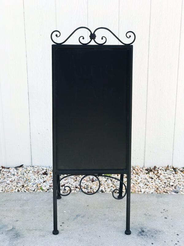 Double Sided Easel Black Chalkboard