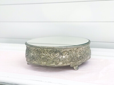 Silver Mirror Cake Stand