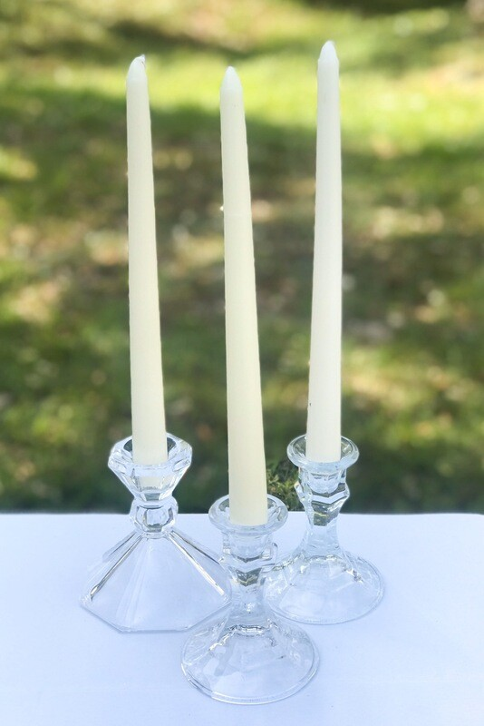Glass Candle Stick Holder 4""