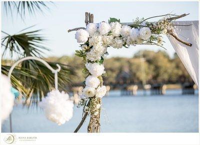 White Floral Corner Piece