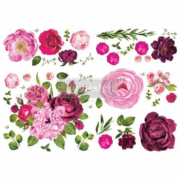 NEW! Prima Decor Transfer: Lush Floral I