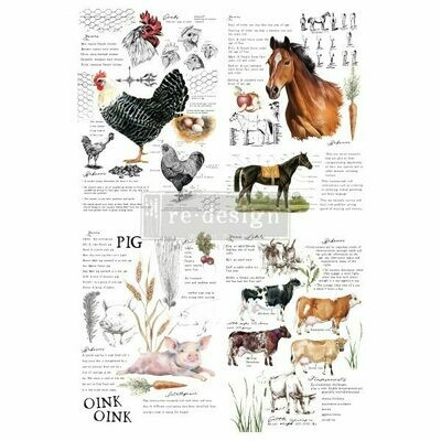 NEW! Prima Decor Transfer: Farm Life