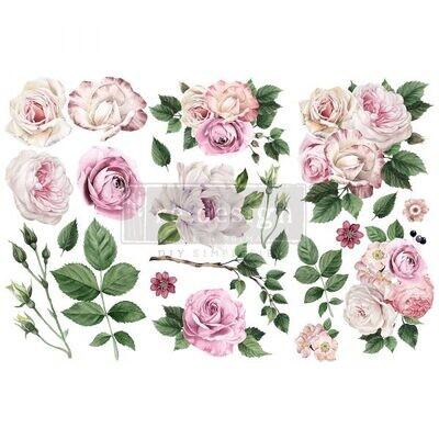 Small Decor Transfer: Delicate Roses