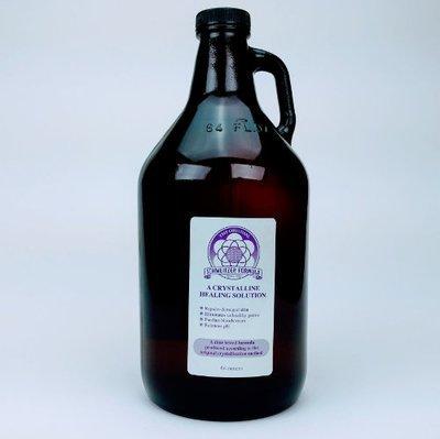 Schweitzer Formula Amber Glass Bottle 64oz