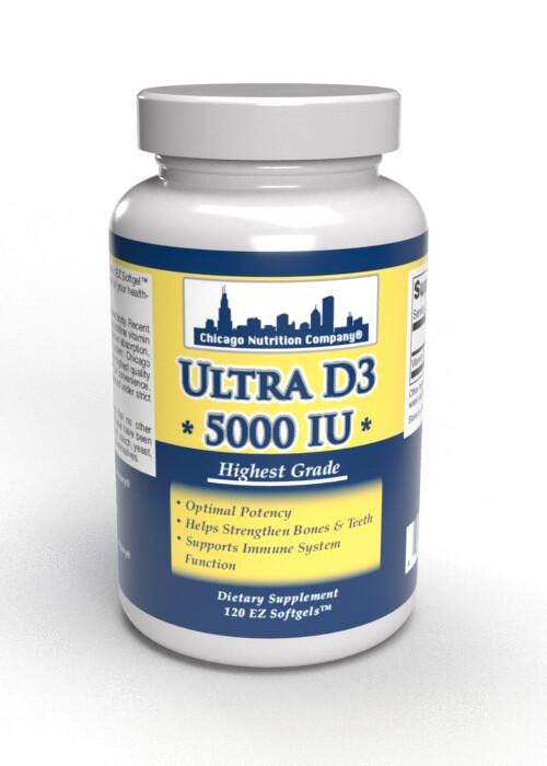 Vitamin D3  5000 IU - 120 Soft Gels