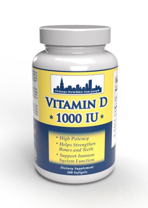 Vitamin D  1000 IU - 360 SoftGels