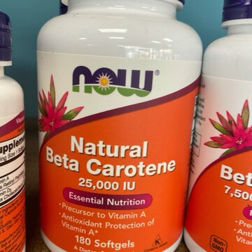 Beta Carotene 25,000IU 180ct