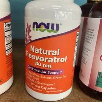 Natural Resveratrol 50mg 60ct