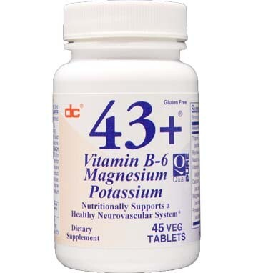 43+ Vit B6 Mag Potassium 250 tablets