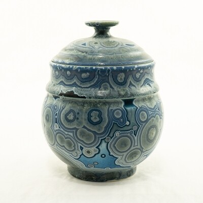 Crystalline Glaze Sugar Bowl by Andy Boswell #ABP20304