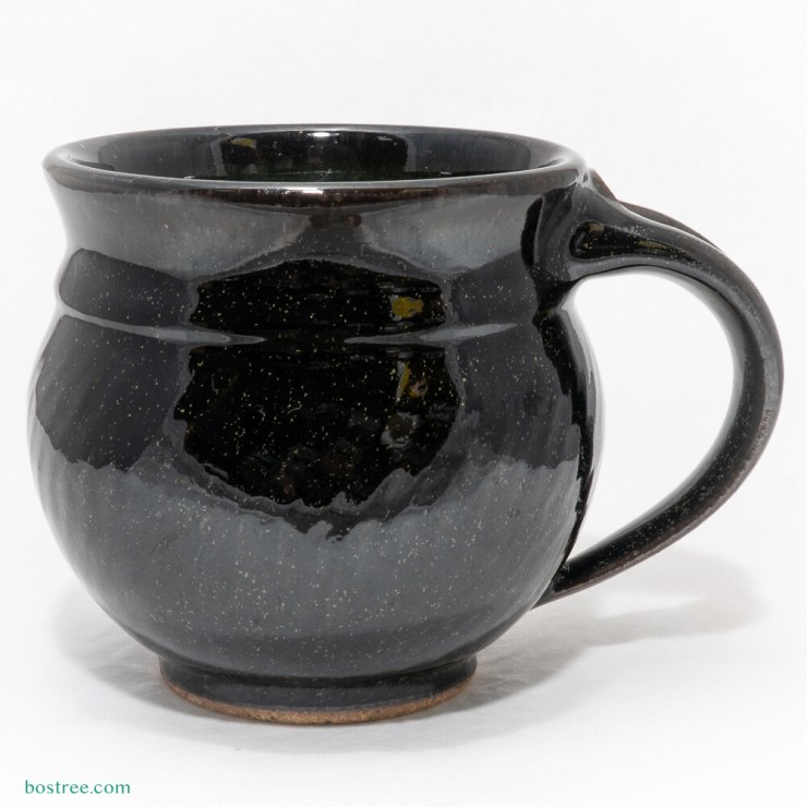 Stoneware Mug 12oz by Andy Boswell #gloss black
