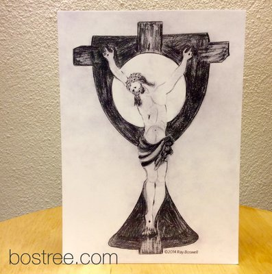 Jesus Icon Postcard by Ray Boswell - 8/pack